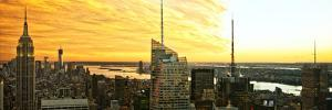 Panoramic Landscape - Empire State Building - Sunset - Manhattan - New York City - United States by Philippe Hugonnard