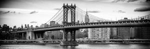 Panoramic Landscape - Manhattan Bridge with the Empire State Building from Brooklyn by Philippe Hugonnard