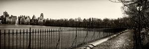 Panoramic Landscape - Path around the Jacqueline Kennedy Onassis Reservoir by Philippe Hugonnard