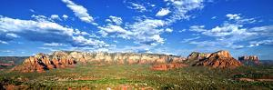 Panoramic Landscape - Thunder Mountains - Sedona - Arizona - United States by Philippe Hugonnard