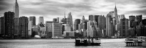 Panoramic Skyline Manhattan with Empire State Building and Chrysler Building by Philippe Hugonnard