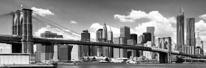Panoramic, Skyline of NYC, Manhattan and Brooklyn Bridge, One World Trade Center, US by Philippe Hugonnard