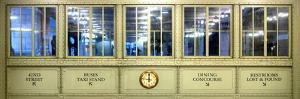 Panoramic View - Antique Glass in the Corridors of the Grand Central Terminal - Manhattan by Philippe Hugonnard