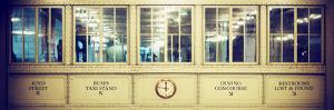 Panoramic View - Antique Glass in the Corridors of the Grand Central Terminal by Philippe Hugonnard