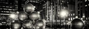 Panoramic View - Giant Christmas Ornaments on Sixth Avenue across from Radio City Music Hall by Philippe Hugonnard