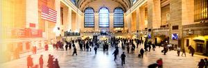Panoramic View - Instants of NY Series - Grand Central Terminal at 42nd Street and Park Avenue by Philippe Hugonnard