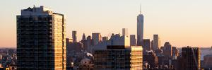 Panoramic View - NYC Skyline at Sunset with the One World Trade Center (1WTC) by Philippe Hugonnard