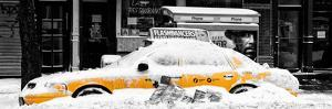 Panoramic View - NYC Yellow Cab Buried in Snow by Philippe Hugonnard