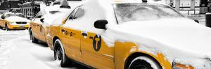 Panoramic View - NYC Yellow Cab in the Snow by Philippe Hugonnard