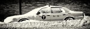 Panoramic View - NYC Yellow Taxi Buried in Snow by Philippe Hugonnard