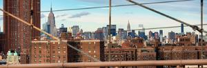 Panoramic View of Downtown Manhattan from the Brooklyn Bridge by Philippe Hugonnard