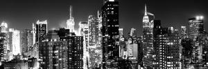 Panoramic View of Skyscrapers of Times Square and 42nd Street at Night by Philippe Hugonnard