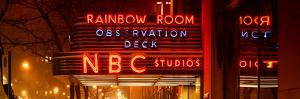 Panoramic View - the NBC Studios in the New York City in the Snow at Night by Philippe Hugonnard