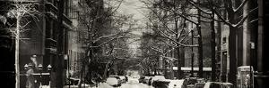 Panoramic View - Urban Street Scene Downtown Manhattan in Winter by Philippe Hugonnard