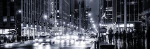 Panoramic View - Urban Street View on Avenue of the Americas by Night by Philippe Hugonnard
