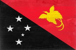 Papua New Guinea Flag Design with Wood Patterning - Flags of the World Series by Philippe Hugonnard