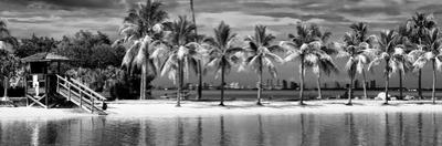 Paradisiacal Beach overlooking Downtown Miami - Florida