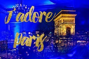 Paris Fashion Series - J'adore Paris - Arc de Triomphe by Night by Philippe Hugonnard