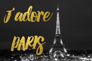 Paris Fashion Series - J'adore Paris - Eiffel Tower at Night V by Philippe Hugonnard
