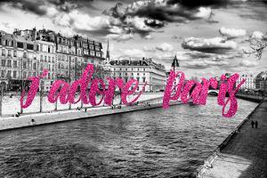Paris Fashion Series - J'adore Paris - Seine River II by Philippe Hugonnard