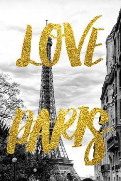 Paris Fashion Series - Love Paris - Eiffel Tower IV by Philippe Hugonnard