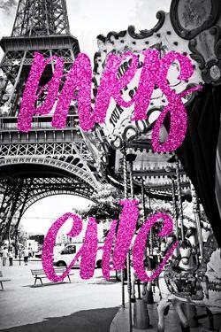 Paris Fashion Series - Paris Chic - Eiffel Tower and Carousel II by Philippe Hugonnard