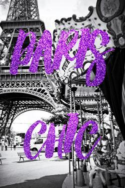 Paris Fashion Series - Paris Chic - Eiffel Tower and Carousel III by Philippe Hugonnard
