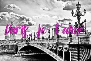 Paris Fashion Series - Paris, je t'aime - Paris Bridge II by Philippe Hugonnard