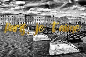 Paris Fashion Series - Paris, je t'aime - Pont des Arts by Philippe Hugonnard
