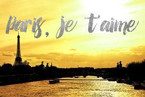 Paris Fashion Series - Paris, je t'aime - Seine River at Sunset II by Philippe Hugonnard