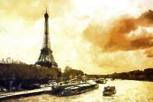 Paris Fiery Sunset by Philippe Hugonnard