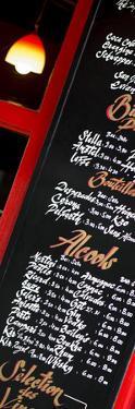 Paris Focus - Bar Menu by Philippe Hugonnard