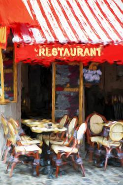 Paris Restaurant - In the Style of Oil Painting by Philippe Hugonnard