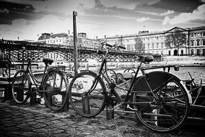 Parisian bikes - Pont des Arts - Paris - France by Philippe Hugonnard