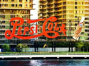 Pepsi Cola Bottling Sign, Long Island City, New York, United States, Colors Style by Philippe Hugonnard