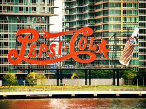 Pepsi Cola Bottling Sign, Long Island City, New York, United States, Vintage by Philippe Hugonnard