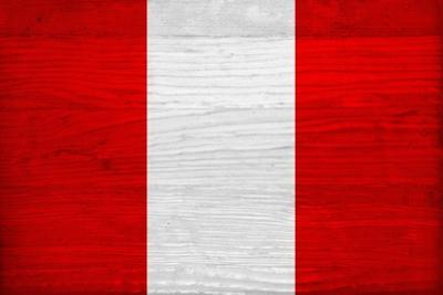 Peru Flag Design with Wood Patterning - Flags of the World Series by Philippe Hugonnard
