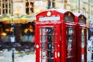 Phone Booths II - In the Style of Oil Painting by Philippe Hugonnard