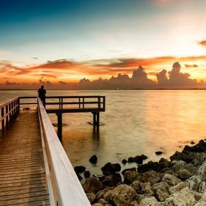 Pier at Sunset by Philippe Hugonnard