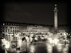 Place Vendome by Night - Paris - France by Philippe Hugonnard