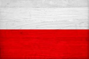 Poland Flag Design with Wood Patterning - Flags of the World Series by Philippe Hugonnard