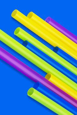 Pop Straws Collection - Blue & Colourful by Philippe Hugonnard