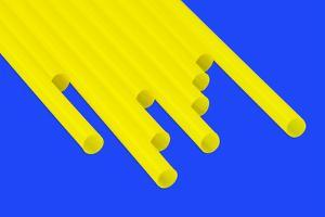 Pop Straws Collection - Blue & Yellow by Philippe Hugonnard