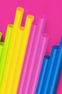 Pop Straws Collection - Dark Pink & Colourful by Philippe Hugonnard