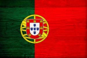 Portugal Flag Design with Wood Patterning - Flags of the World Series by Philippe Hugonnard