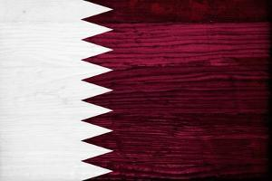 Qatar Flag Design with Wood Patterning - Flags of the World Series by Philippe Hugonnard