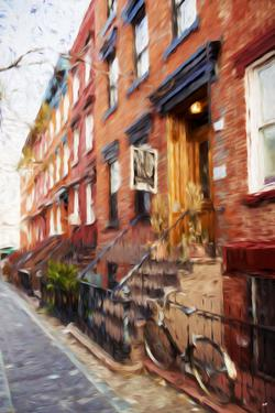 Red Bricks - In the Style of Oil Painting by Philippe Hugonnard