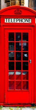 Red Phone Booth in London - City of London - UK - England - United Kingdom - Europe - Door Poster by Philippe Hugonnard