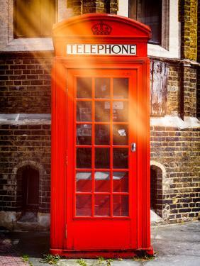 Red Phone Booth in London - City of London - UK - England - United Kingdom - Europe by Philippe Hugonnard
