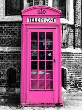 Red Phone Booth in London painted Pink - City of London - UK - England - United Kingdom - Europe by Philippe Hugonnard